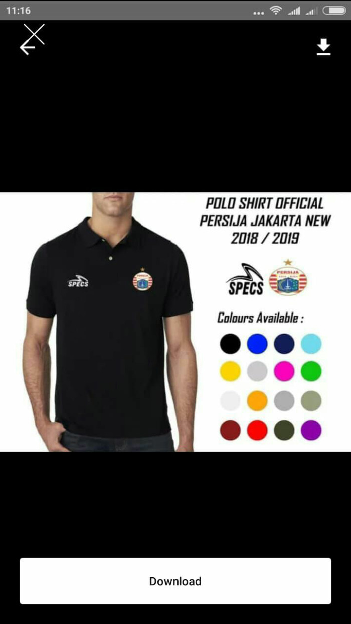Jual Polo Kaos Kerah SPECS PERSIJA Jakarta Timur Rejo Cloth