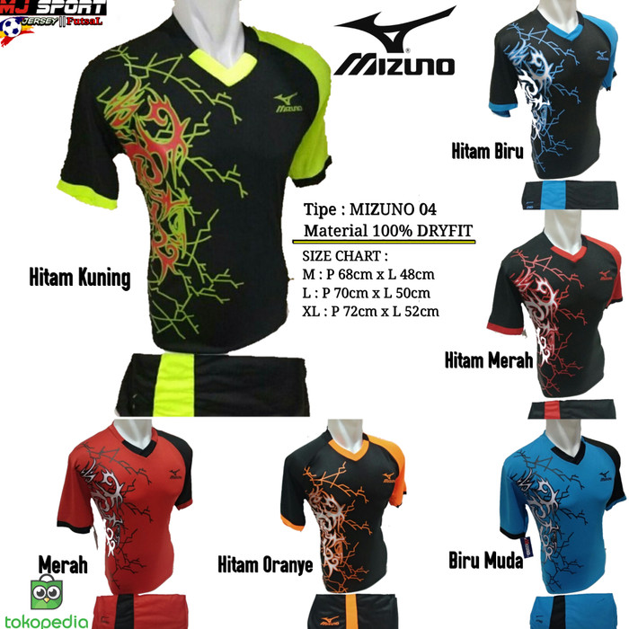 Baju Olahraga Jersey Bola Setelan Futsal / Volly Badminton Mizuno