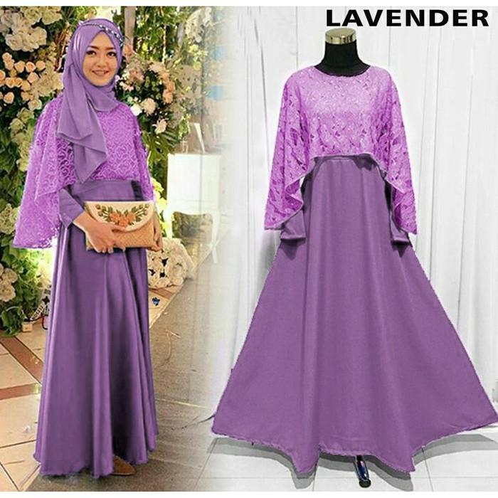 Jual Gamis Muslim Olivia Dress Syar I Baju Muslim Wanita Gamis Pesta