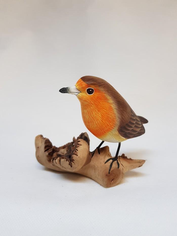 Jual Pajangan Burung Robin Robin Wooden Sculpture Jakarta Selatan Puriartha Tokopedia