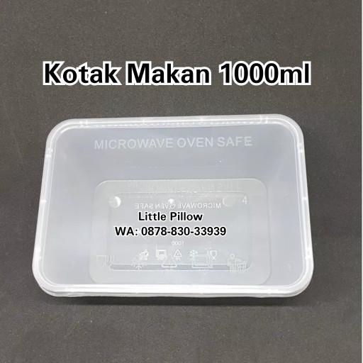 Foto Produk (GROSIR KHUSUS GOJEK) Kotak Makan Bening 1000ml/Lunch Box/Thinwall dari Little Pillower