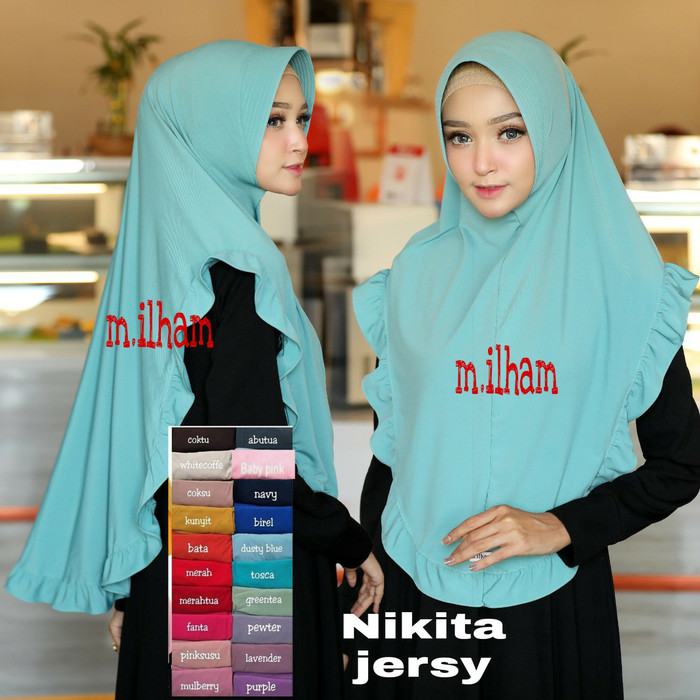 KHIMAR NIKITA ORIGINAL M.ILHAM GOOD JERSY RENDA PINGUIN LAYER SZ XL