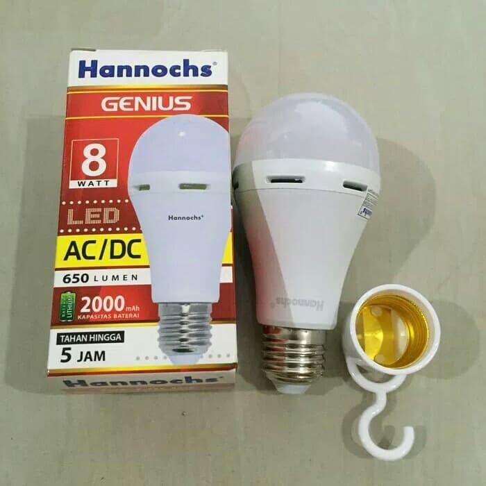 Lampu LED Emergency Hannochs Genius 8Watt Putih - Lampu Darurat murah
