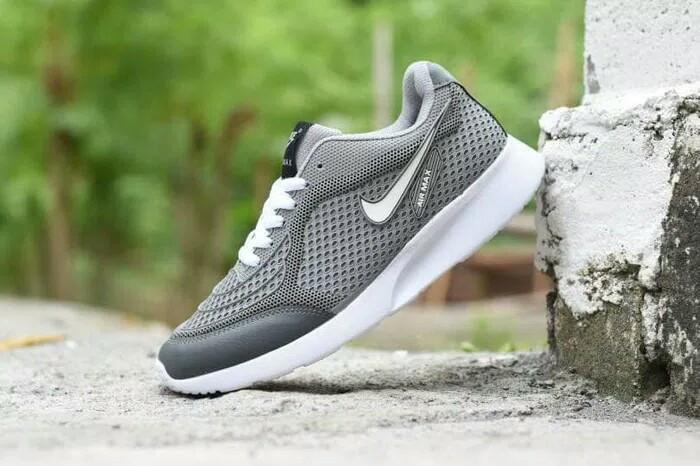 harga Sepatu Nike Air Max Airmax Running Casual Sport Abu Putih Pria Dewasa Blanja.com