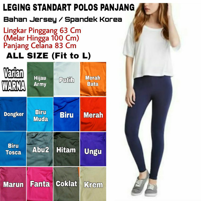 Legging Standar Polos Panjang