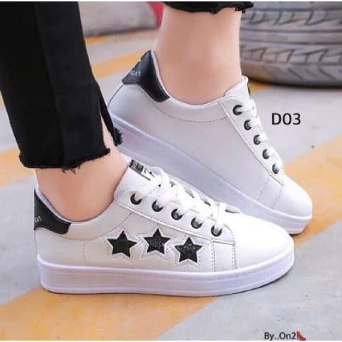 Sneakers Sepatu Wanita Fashion Kucing Warna Hitam - Daftar Harga ... 9ad53fbe77