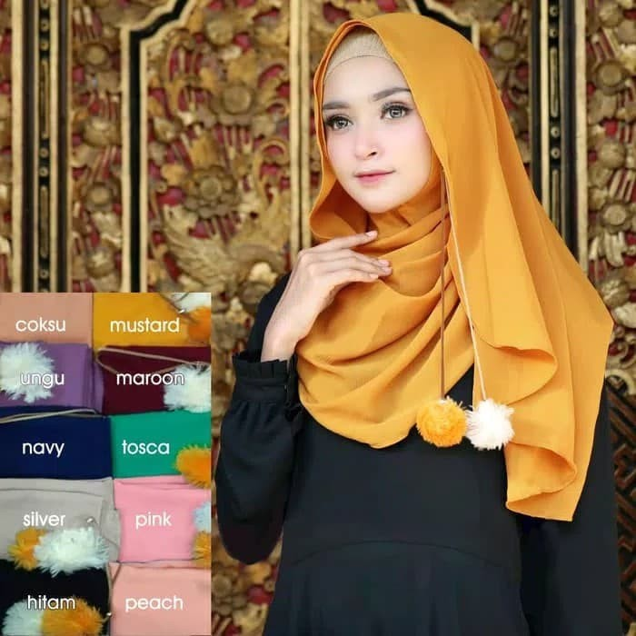 Jual Jilbab Kerudung Bergo Syari Hijab Fashion Muslim Scarft Khimar Coksu Kota Bandung Sarung Tenun Bandung Tokopedia