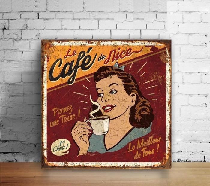 Jual Poster Hiasan Dinding Wall Decor Kayu Vintage 20x20cm ...