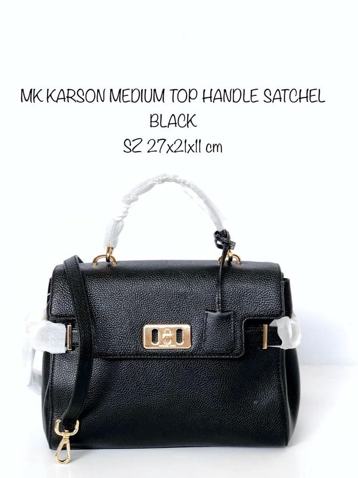 b3432a31c869 Jual MICHAEL KORS KARSON MEDIUM TOP HANDLE BLACK - Kota Administrasi ...