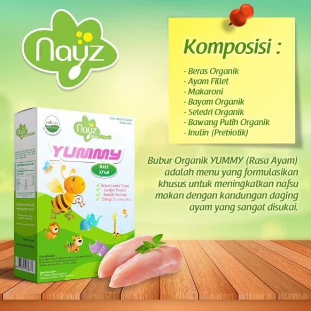 harga Murah nayz yummy ayam tambah nafsu makan bubur bayi organik mp asi Tokopedia.com