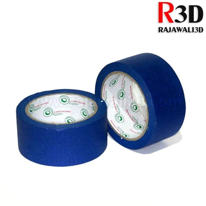 harga 3d printer high temperature adhesive blue tape 0.13*48mm*30m Tokopedia.com