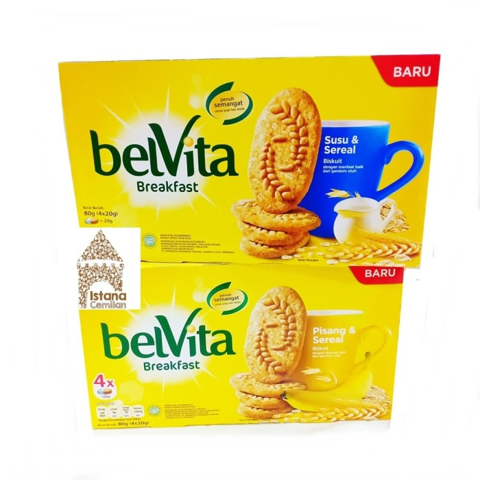 harga Belvita Breakfast Biskuit Gandum - Cemilan Sehat - Susu Sereal Blanja.com