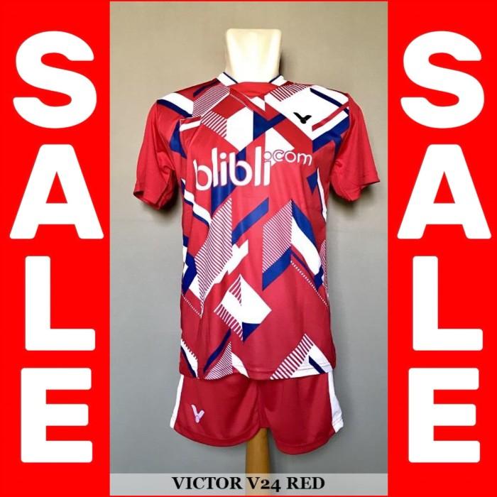 Grosir Setelan Badminton / Bulutangkis Victor V24 (Baju Kaos Celana)