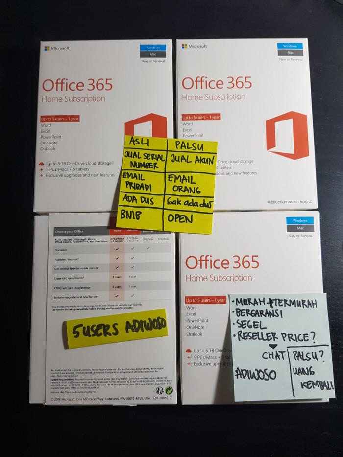 jual microsoft office 365 home premium 6 users 1 year original kota bekasi adiwoso tokopedia