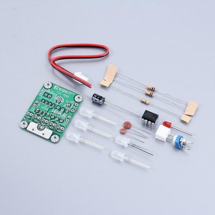 Foto Produk TDL-555 Touch Delay Switch LED Light DIY Kit Electronic Training DC 5V dari LisuInstrument
