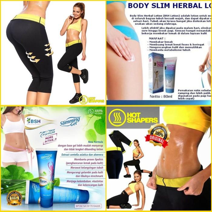 85aa24b181 Paket Hot Shapers Pants Neotex + BSH Slimming Gel pelangsing lemak - Hitam