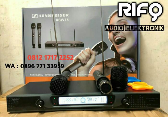 harga Mic wireless sennheiser xsw75 xsw 75 wireless digital uhf utk karaoke Tokopedia.com