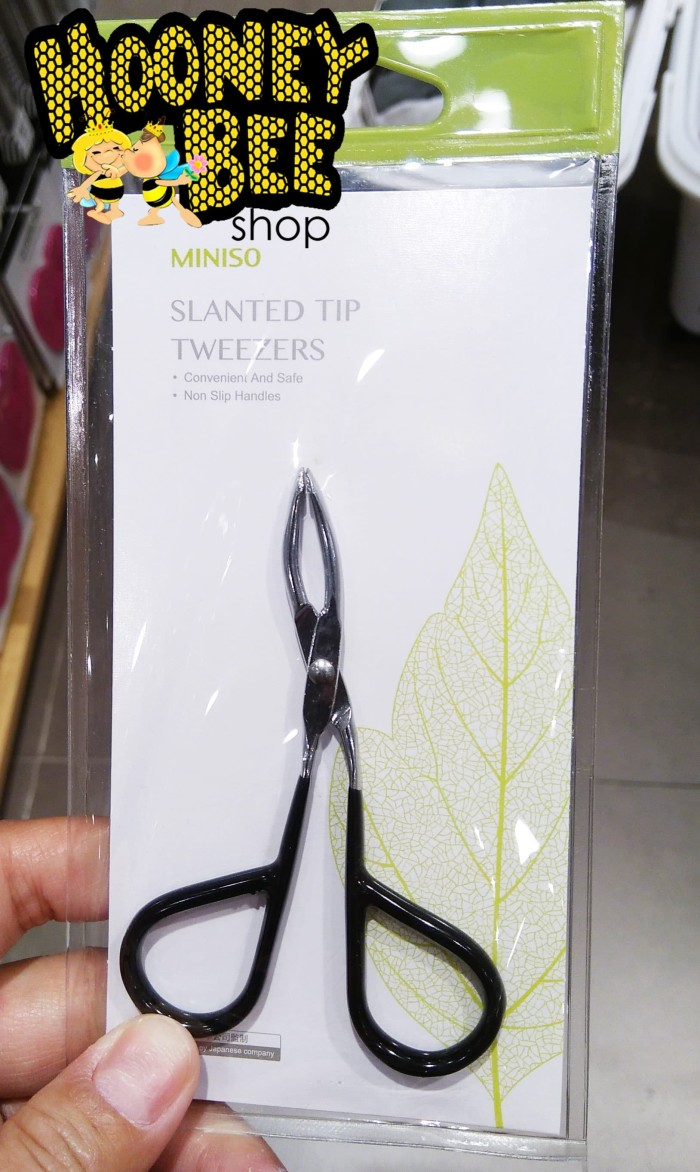 harga Japan quality miniso - slanted tip tweezers pencabut rambut bulu alis Tokopedia.com