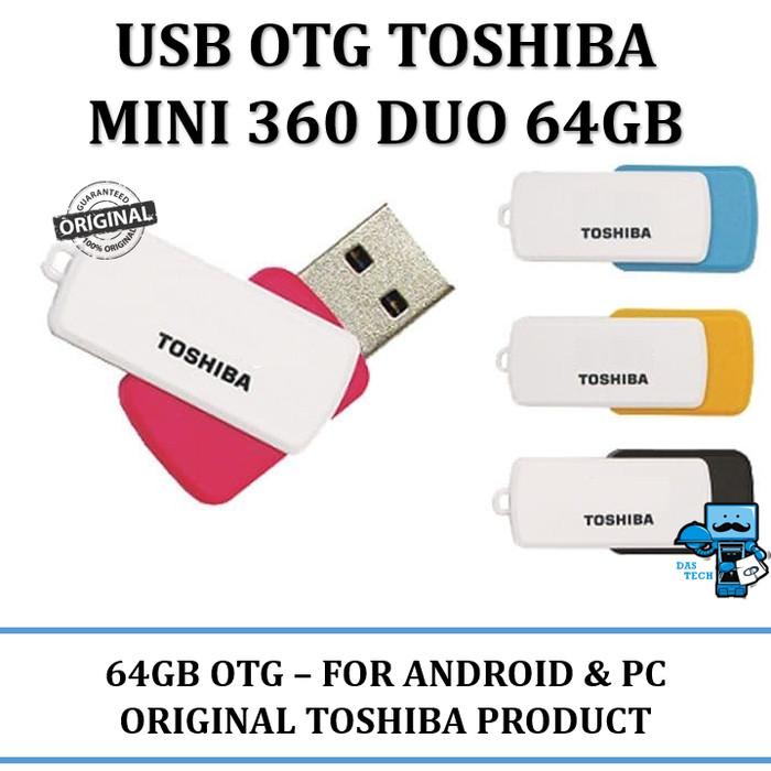 harga Usb otg flashdisk toshiba mini 360 duo 64gb usb 3.0 - android&windows Tokopedia.com