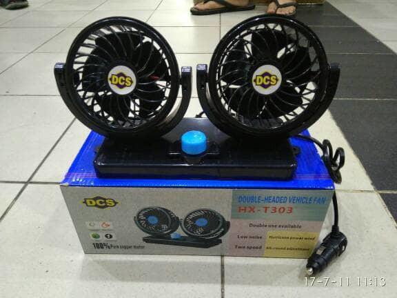 Foto Produk Kipas angin mobil double fan 12 volt cocok untuk pick up dan truck dari hoedafa mart