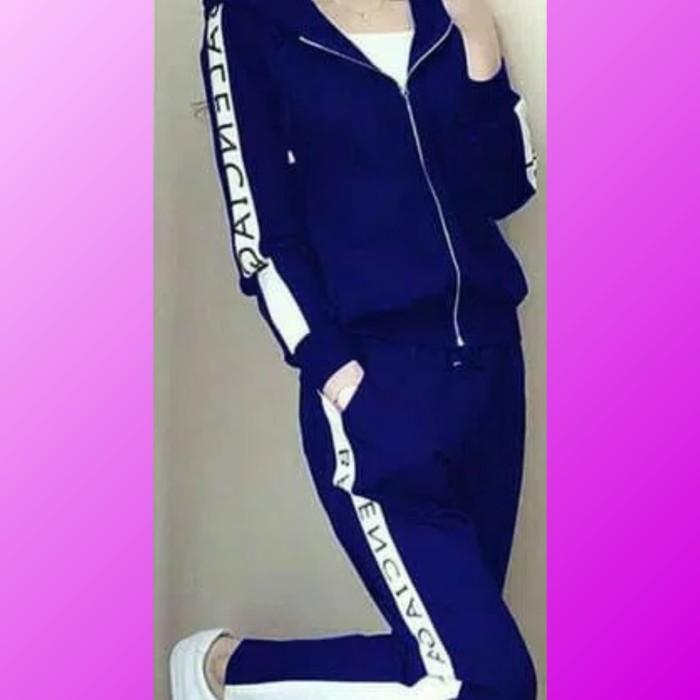 harga Setelan baju olahraga sport blouse celana senam aerobik aerobic biru Tokopedia.com
