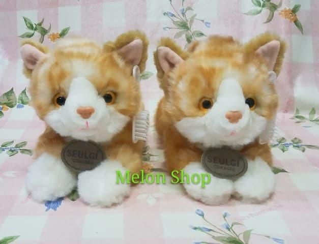Foto Produk Boneka Kucing Baring Halus Bulu Import Abu-abu / Kuning Dengan Sisi dari melonshops