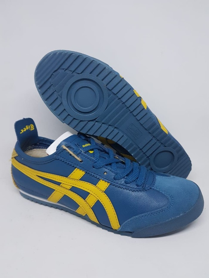 huge discount 86e11 8a59f Jual Sepatu Asics Onitsuka Tiger Mexico 66 Deluxe Japan Leather Blue Yellow  - DKI Jakarta - ridoshop9 | Tokopedia