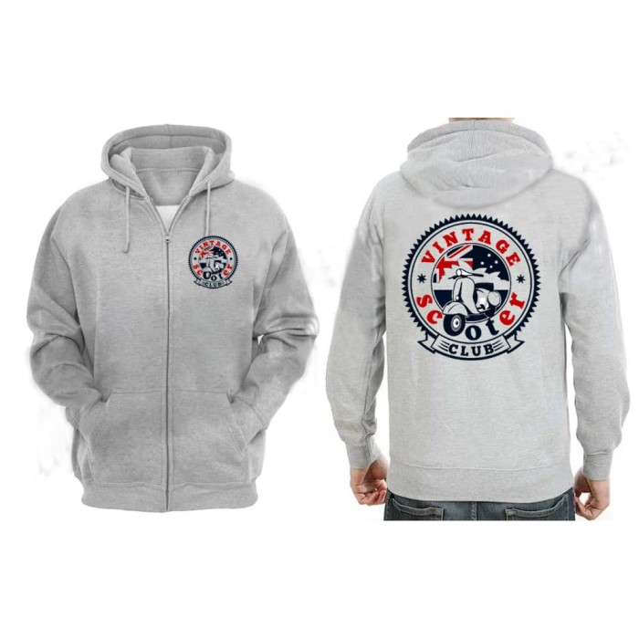 Vespa Scooter Club Style Scooter Mods Printed Hoodie in 5 Sizes