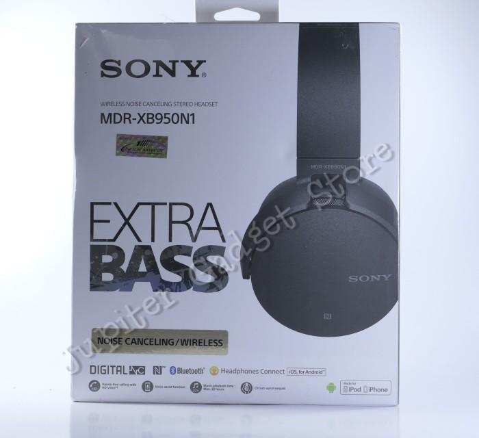 Headset Bluetooth Sony MDR-XB950N1 Extra Bass Garansi Resmi Sony - Hitam