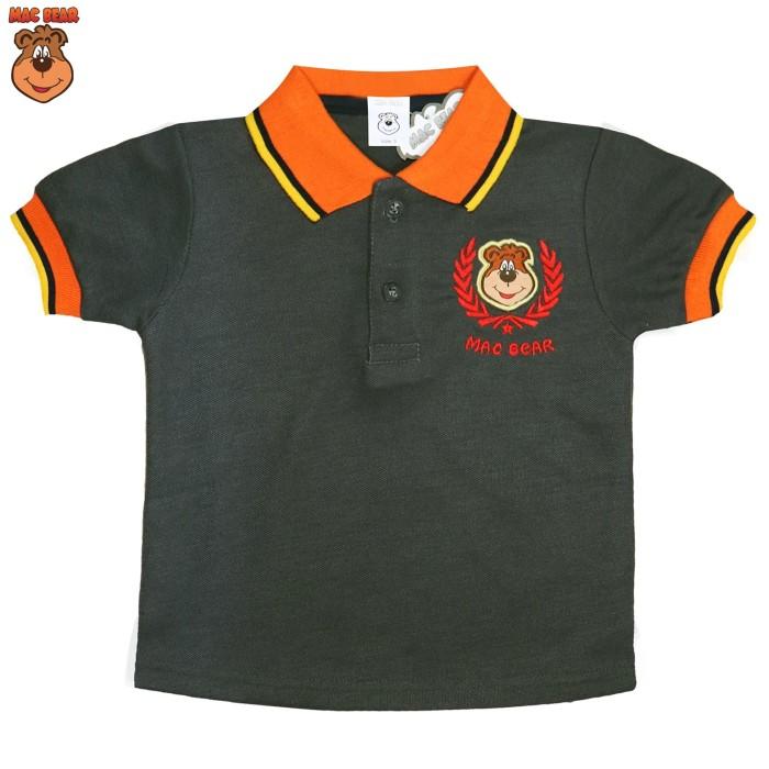 bt6-kitm macbear junior baju anak atasan hello polo macperry - size 10 abu -abu tua