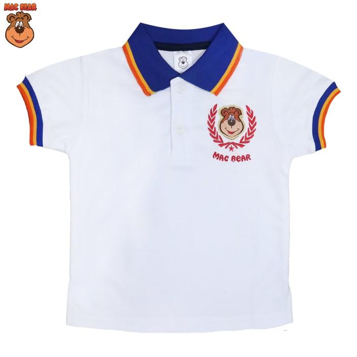 Bs4-kitm macbear junior baju anak atasan hello polo macperry - size 1 putih