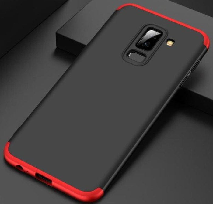 Samsung Galaxy A6 Plus 2018 Hard Case 360 GKK 3in1 Full Cover Casing