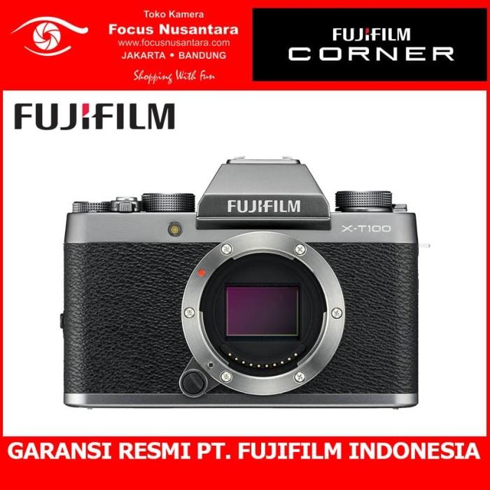 harga Fujifilm x-t100 body (dark silver) + xf 35mm f/2 Tokopedia.com