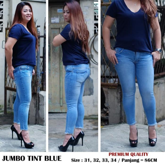 Celana Jeans Jumbo Wanita Jumbo Tint Blue BRANDED