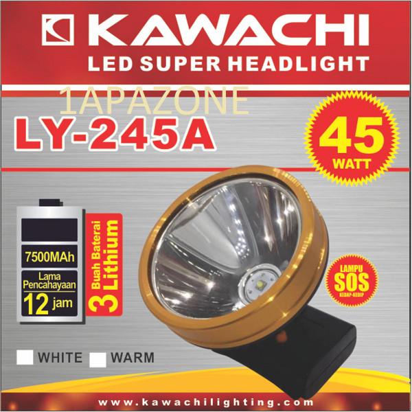 harga Senter kepala 45watt (led super headlight) ly-245a kawachi Tokopedia.com
