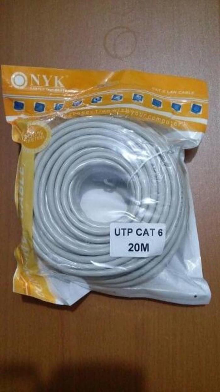 Kabel Harga Terupdate 1 Jam Lalu Utp Lan Cat6 20 Meter Cable M Higt Qu Bjlb001