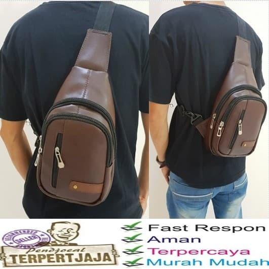 harga Tas selempang pria kulit / men sling shoulder bags Tokopedia.com