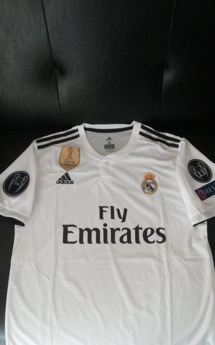 15f9ae495 Jual Jersey Madrid NEW Home 2018 2019 + Full Patch UCl WCC