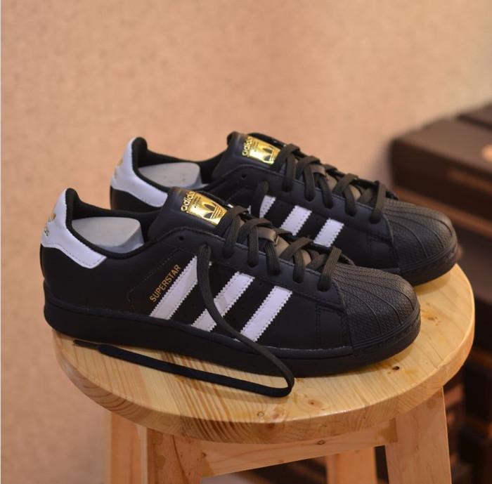 Jual Sepatu Adidas Superstar Black White 100 Original Made In