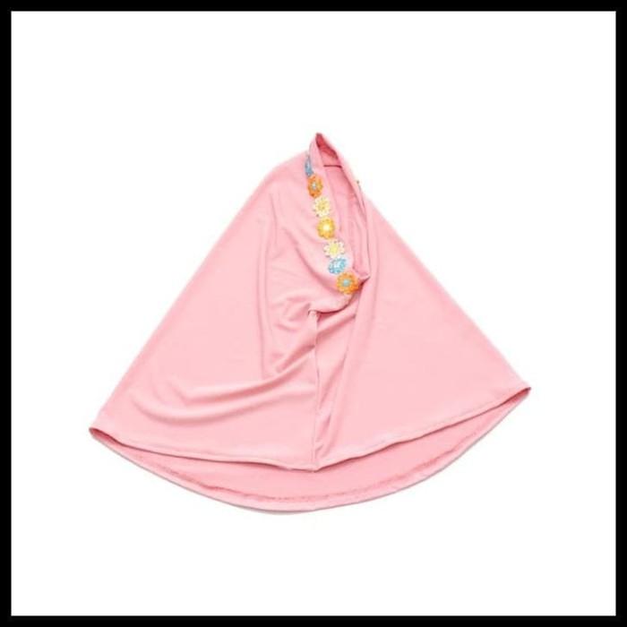 Baju Muslim Gamis Anak Perempuan Murah Simple Lucu Peach