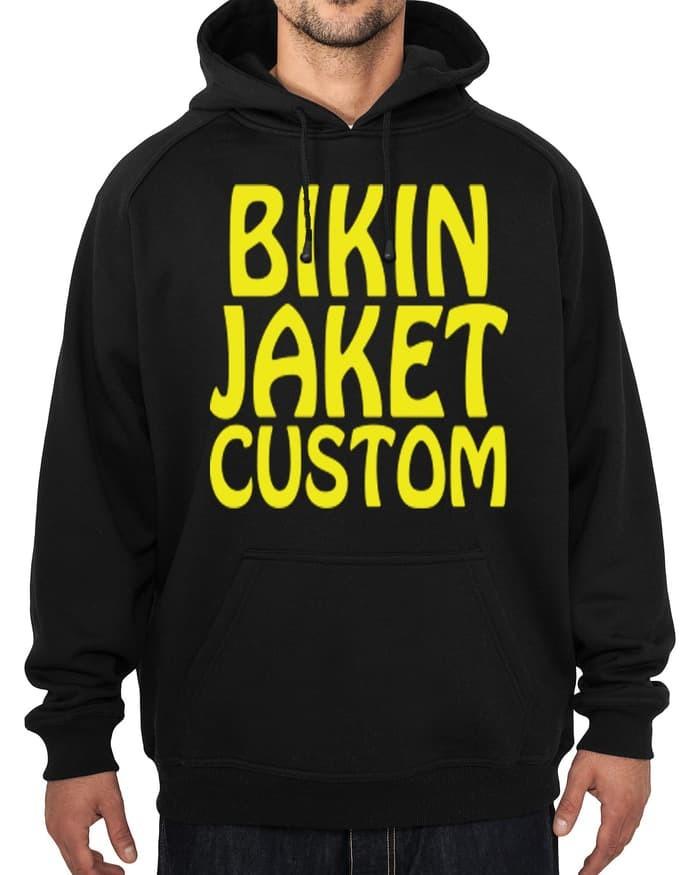 Jual Sablon Custom Jaket Sweater Hoodie Desain Belakang Logo Dada Kanan Kota Bekasi Agen Kaos Polos Tokopedia