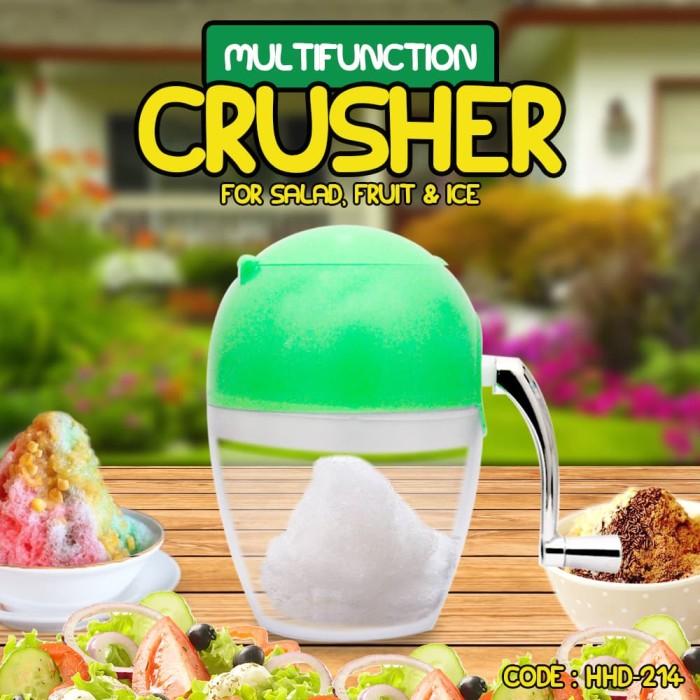 harga Ice crusher multifunction alat serut es batu portable manual - hhd-214 Tokopedia.com