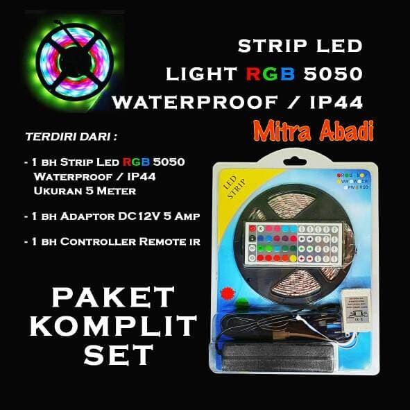 Foto Produk Paket Complete Adaptor + LED Strip 5050 RGB + Remote Driver RGB Besar dari Toko Mitra Abadi
