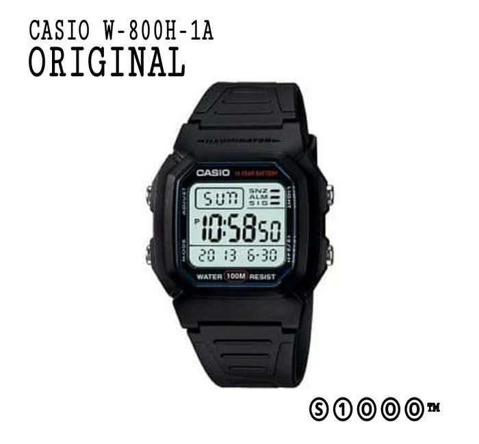 Foto Produk CASIO ORIGINAL W-800H-1A W - 800H - 1A dari serbaserbi1000