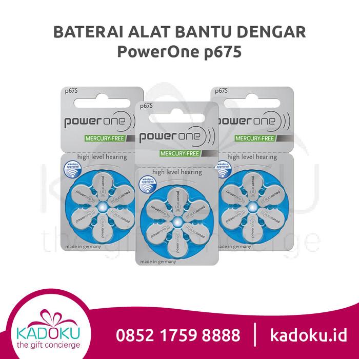 Baterai Alat Bantu Dengar Powerone 675 (Tipe Terbaru Mercury-Free)