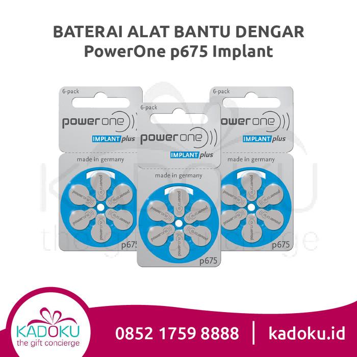 Baterai Implant Powerone 675 Implant Plus Hearing Aid Battery