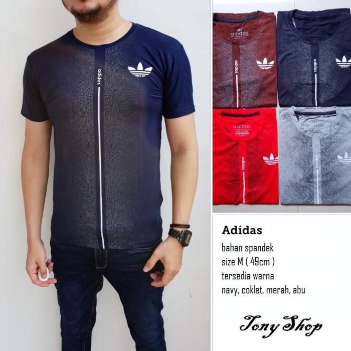 Kaos pria cowo Adidas - Navy
