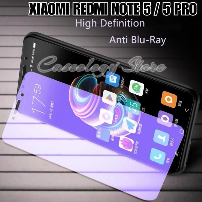 Foto Produk XIAOMI REDMI NOTE 5 / 5 PRO TEMPERED GLASS BLUE RAY REDMI NOTE 5 PRO dari Caseology Store