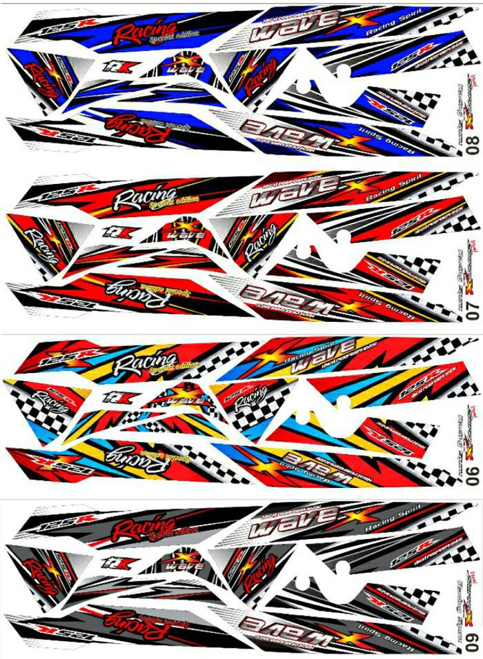 Sticker Striping Variasi Thailand Thailook Supra X 125 WAVE X & WAVE R