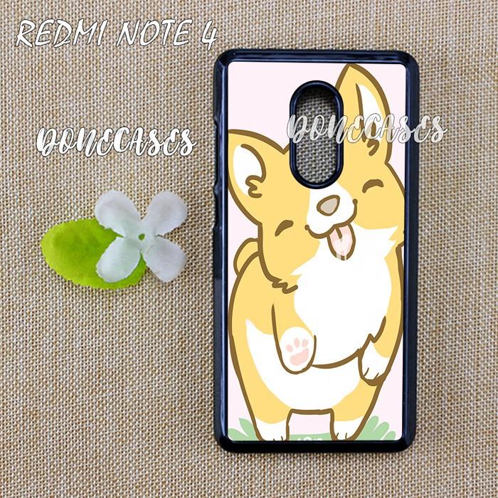 Casing Xiaomi Redmi Note 4 Corgi Valentine Hard Case Custom